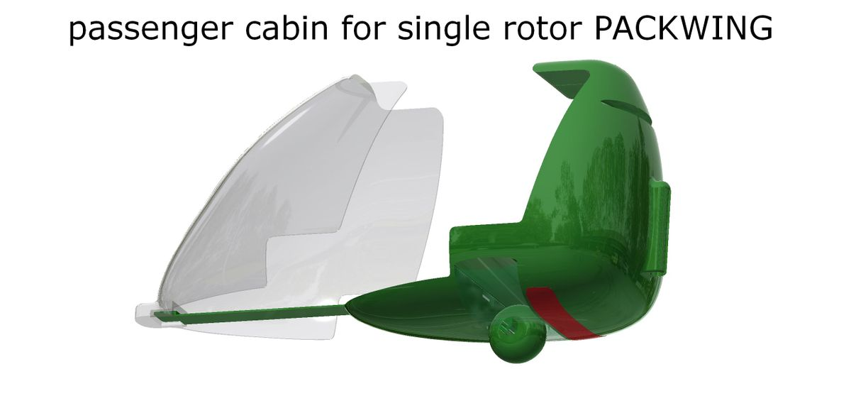 passenger cabin for single rotor PACKWING 1