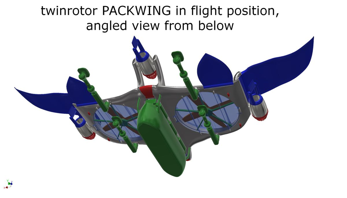 twinrotor packwing in flight position 3