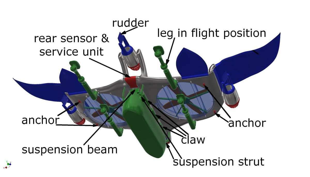 twinrotor packwing in flight position 4
