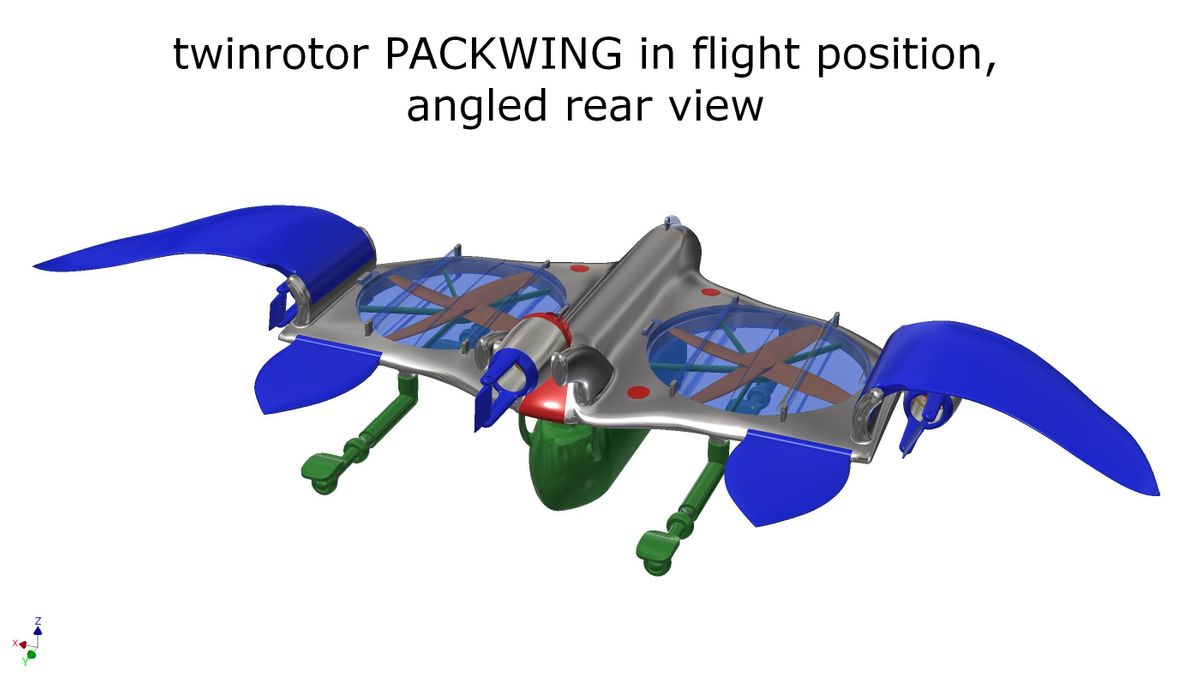 twinrotor packwing in flight position 5