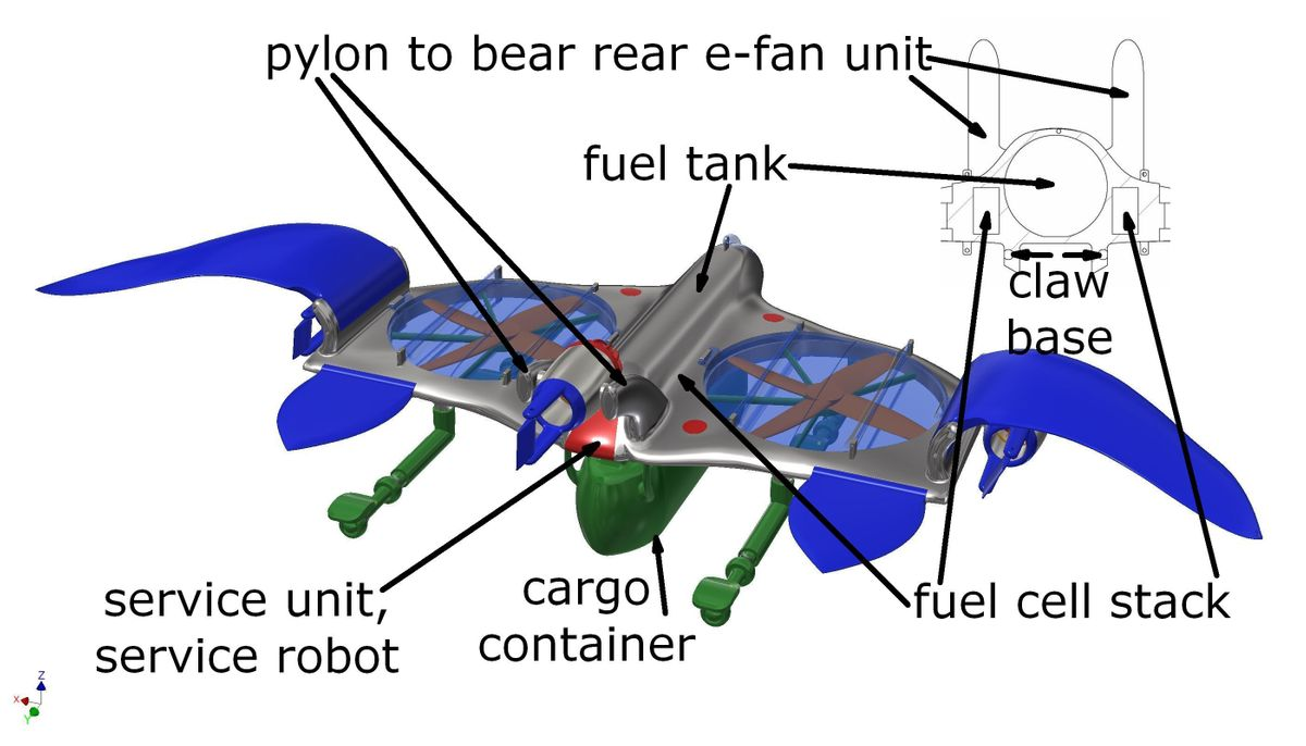 twinrotor packwing in flight position 6