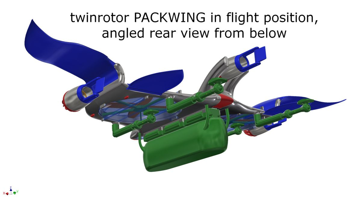 twinrotor packwing in flight position 7